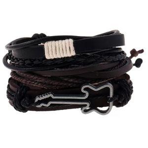 Boho Stackable Leather Guitar Accent Bracelet